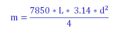 công thức tính trọng lượng thép phi 10 8 12