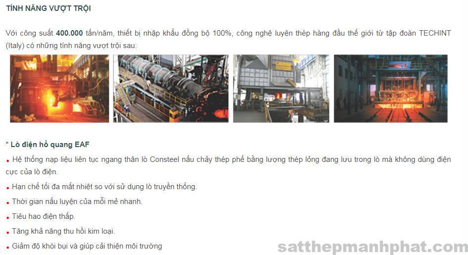 quy trình sản xuất thép việt ý